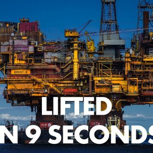 Lifting a whole oil platform in one go